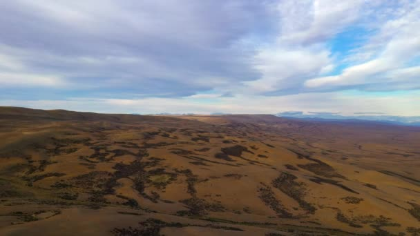 Aerial top view of Pampas landscape in Patagonia, Argentina, South America