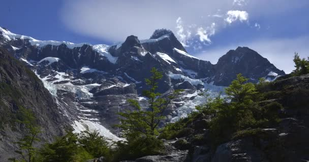 Time lapse view of Torres del Paine cloudy mountains , Patagonia, Chile
