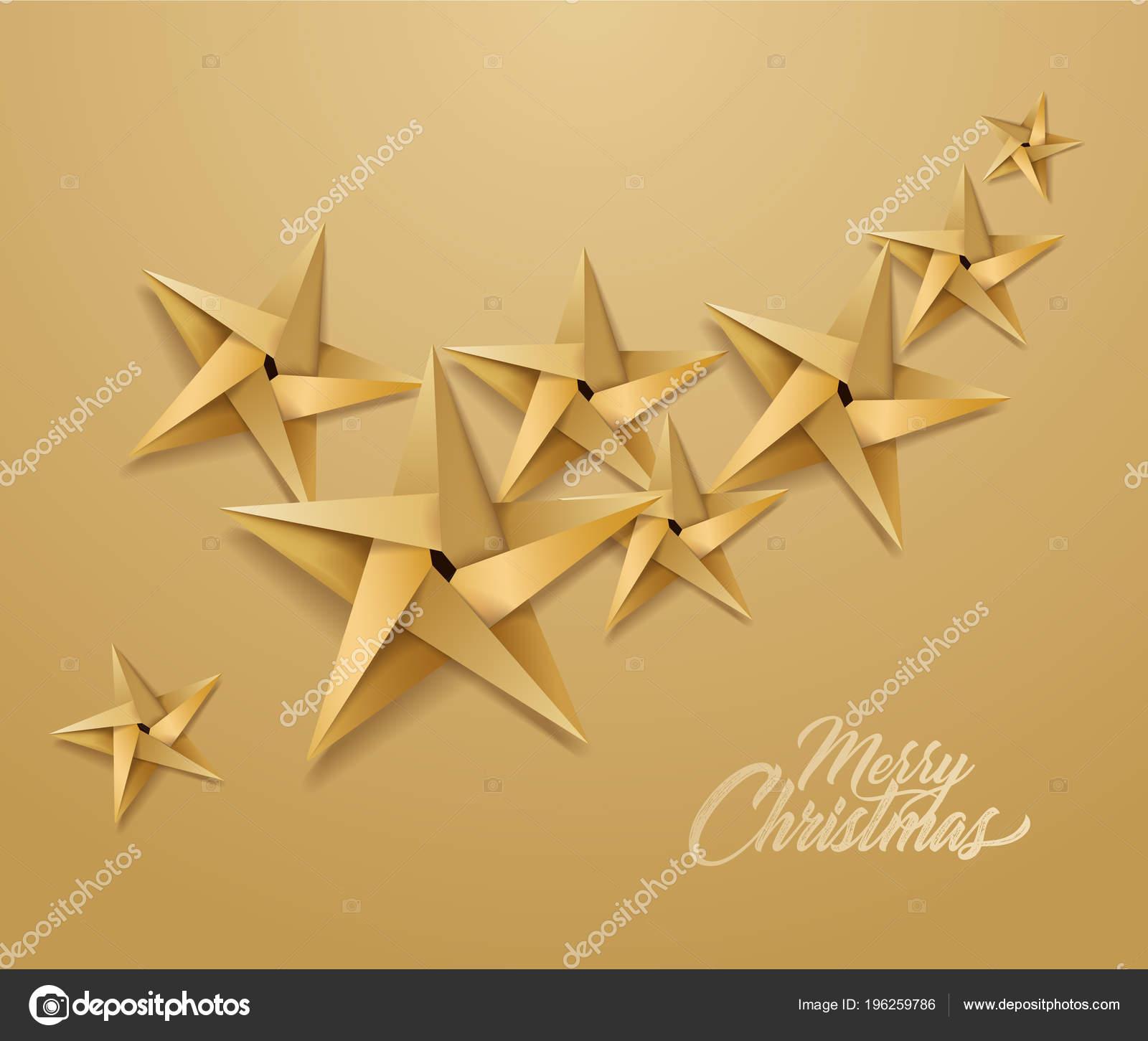 Stella Di Carta Natale.Stella Di Vettore Origami Carta Natale Vacanze Vettoriali Stock
