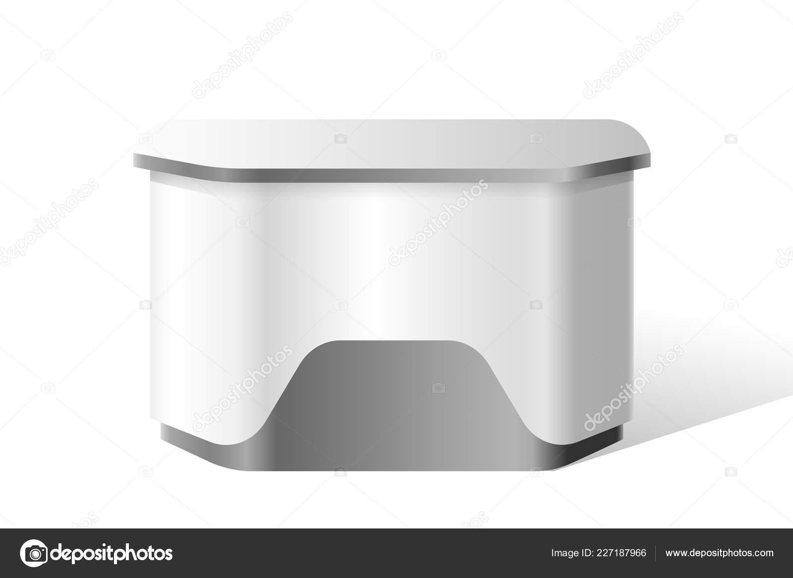 Exhibition Stand Reception Desk : Vector reception stand exhibition trade d mockup u stock vector