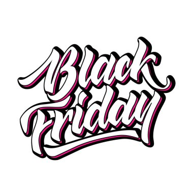 Vector black friday lettering hand drawn ink brush