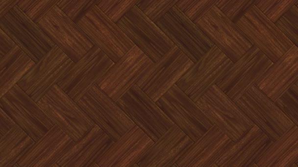 Pohyblivé pozadí dřevěné parketové podlahy. Bezešvá smyčka animace.