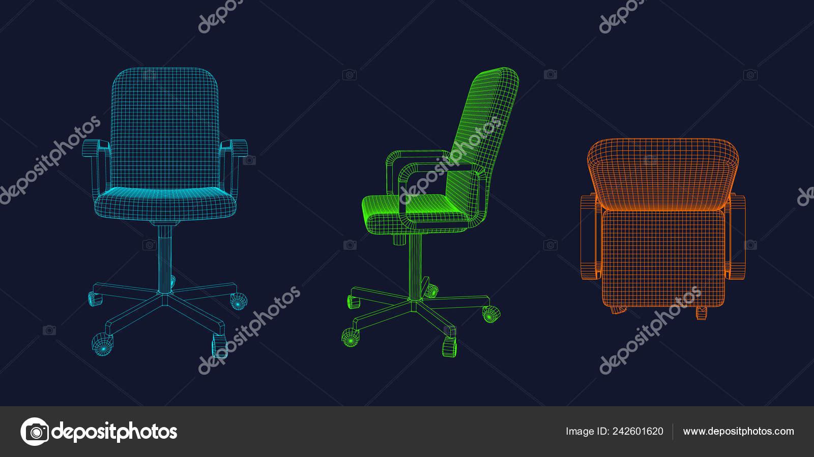Vectorial Contorno Alambre Oficina Diferentes Silla Ilustración zVGUqSMp