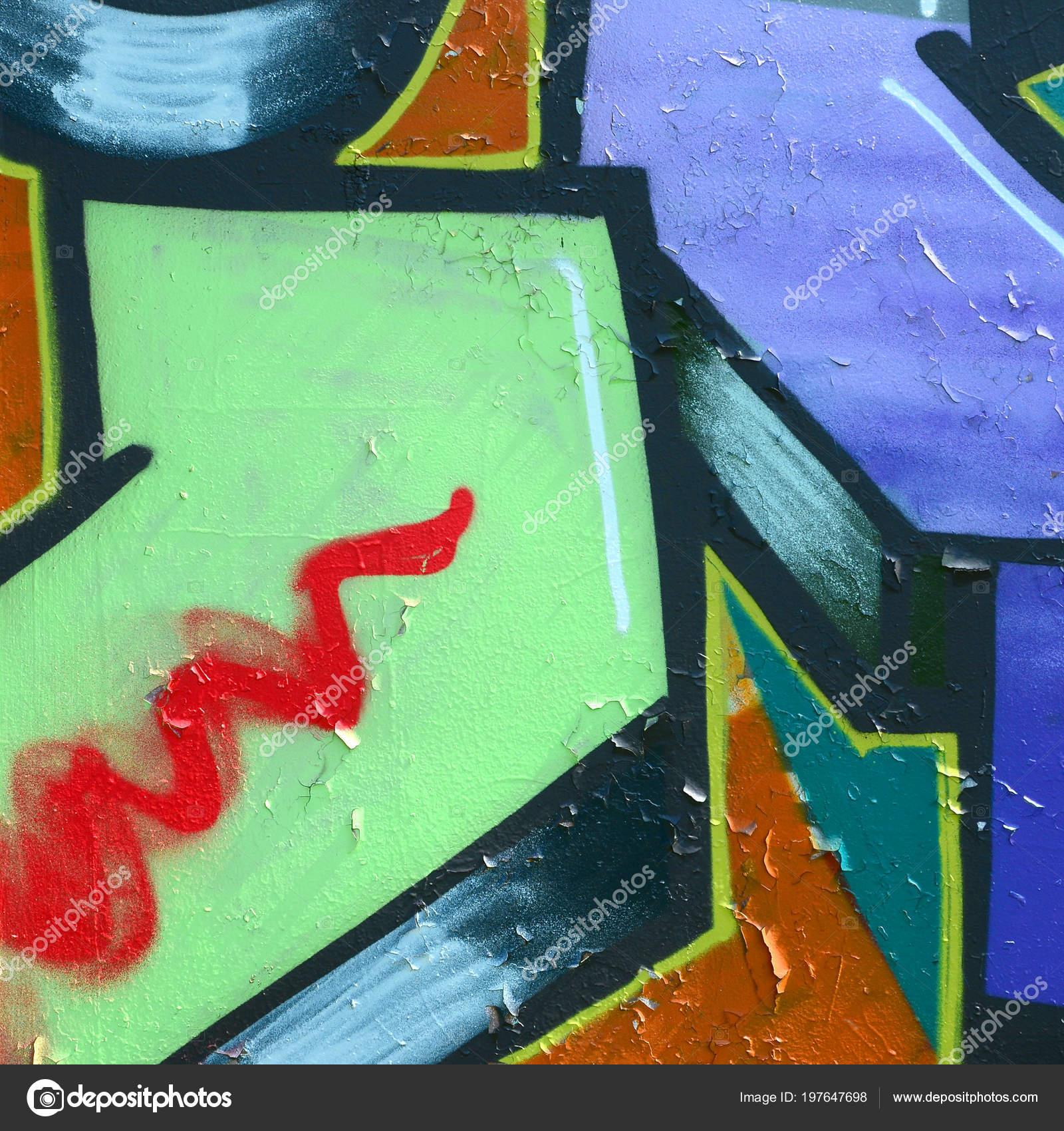 Arte Strada Immagine Sfondo Astratto Frammento Dipinto Graffiti