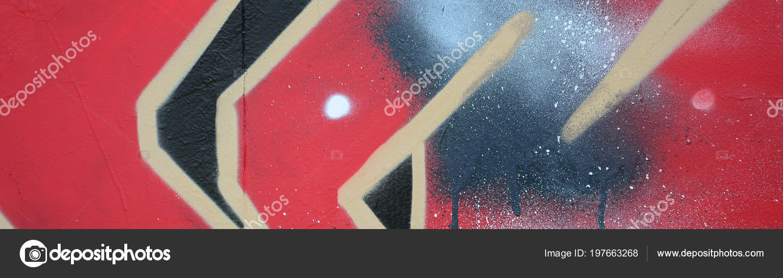 Street Art Abstract Background Image Fragment Colored