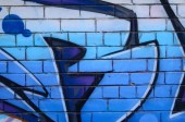 Fragment graffiti výkresů. Staré zdi zdobené skvrn ve stylu street artu kultury. Barevné pozadí textury.