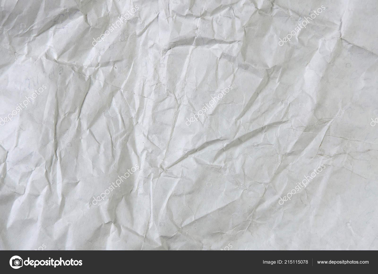 Superficie Sfondo Bianco Carta Sgualcita Bianco Vista Superiore Con