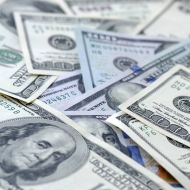 close-up of money, abstract background