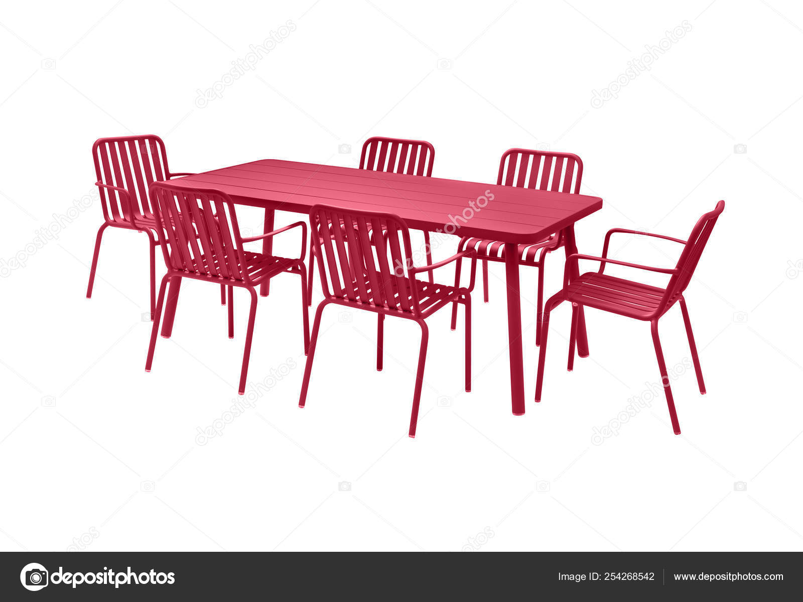 Amazing Garden Dining Table Chairs White Background Stock Photo Onthecornerstone Fun Painted Chair Ideas Images Onthecornerstoneorg