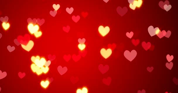 Červená srdce. Šťastný Valentýn pozadí. 3D vykreslování.
