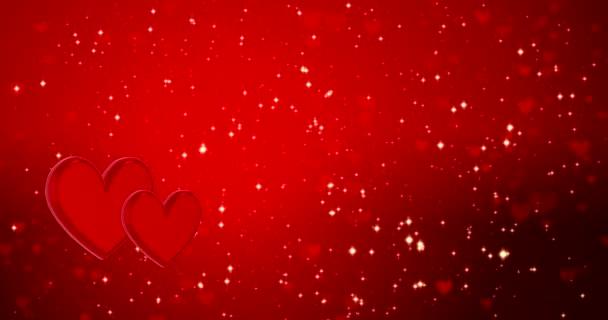 Romantické zázemí se srdcem a zlatými konfetami. Šťastný Valentýn nebo svatba.