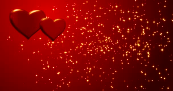 Red hearts. Happy Valentines day background.
