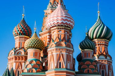 St.Basil's Cathedral on the Red Square in Moscow on an autumn day