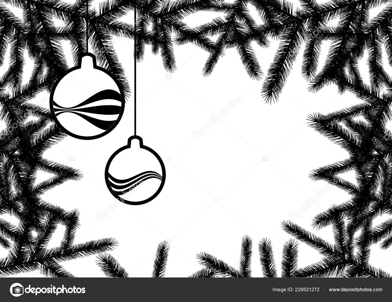 Vecteur Fond Noël Noir Blanc Fond Vacances Avec Espace Copie