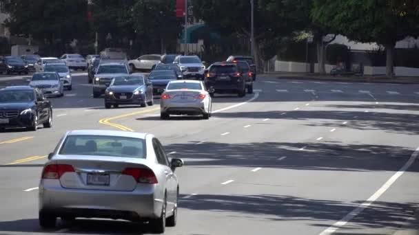 LOS ANGELES, CALIFORNIA, USA - August 5, 2019: Tourists explore Beverly Hills landmark, Los Angeles, California, USA