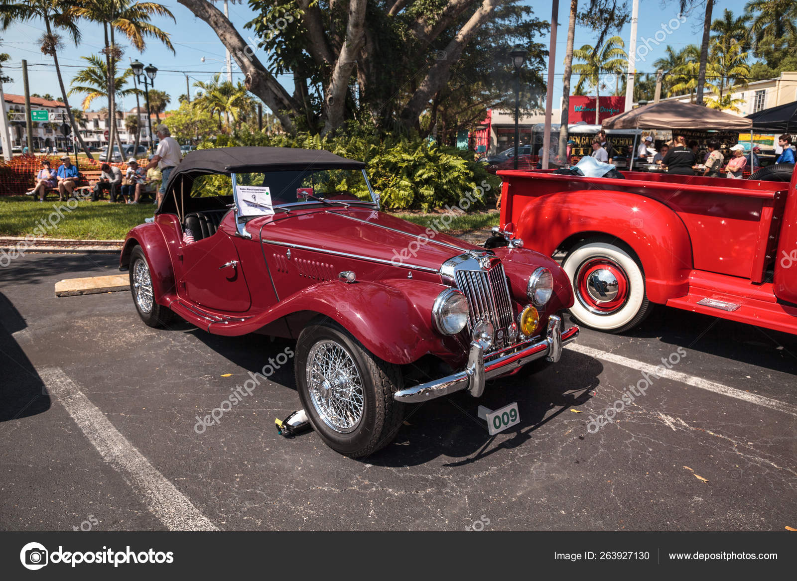 Naples Car Show >> Red 1954 Mg Tf At The 32nd Annual Naples Depot Classic Car