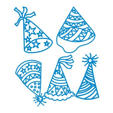 Birthday Hat Design Graphic Template Vector