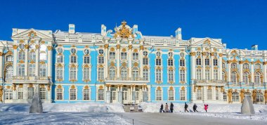 Saint Petersburg, Russia The views of the Catherine Palace in the winter. The famous place for tourists who come to travel in Saint Petersburg.