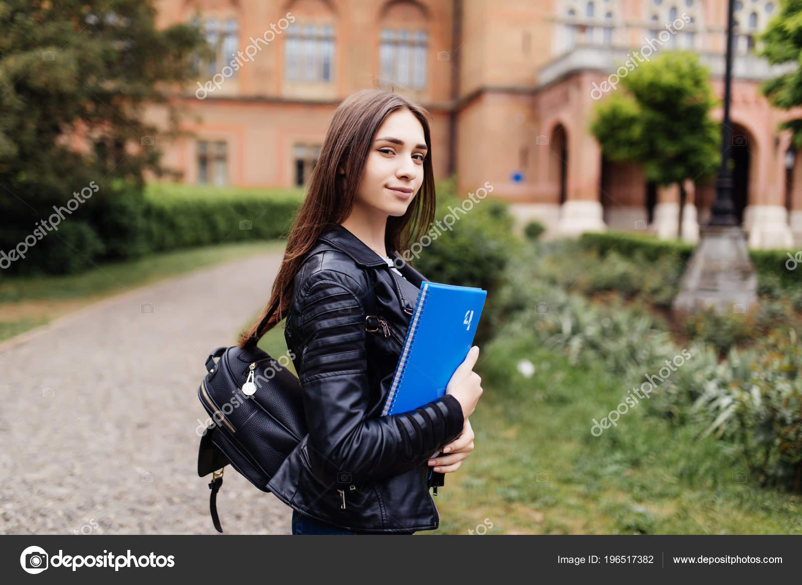 University College Student Girl Looking Happy Smiling Book Notebook Campus  — Stock Photo © dan.grytsku.gmail.com #196517382
