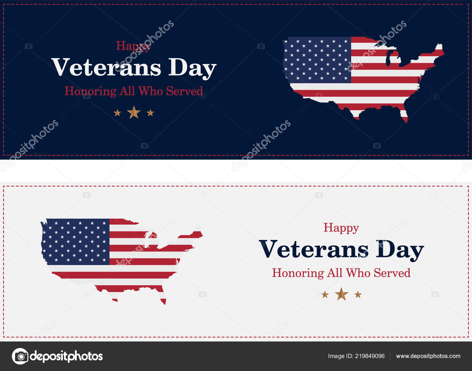 Veterans Day Greeting Card Usa Flag Background National