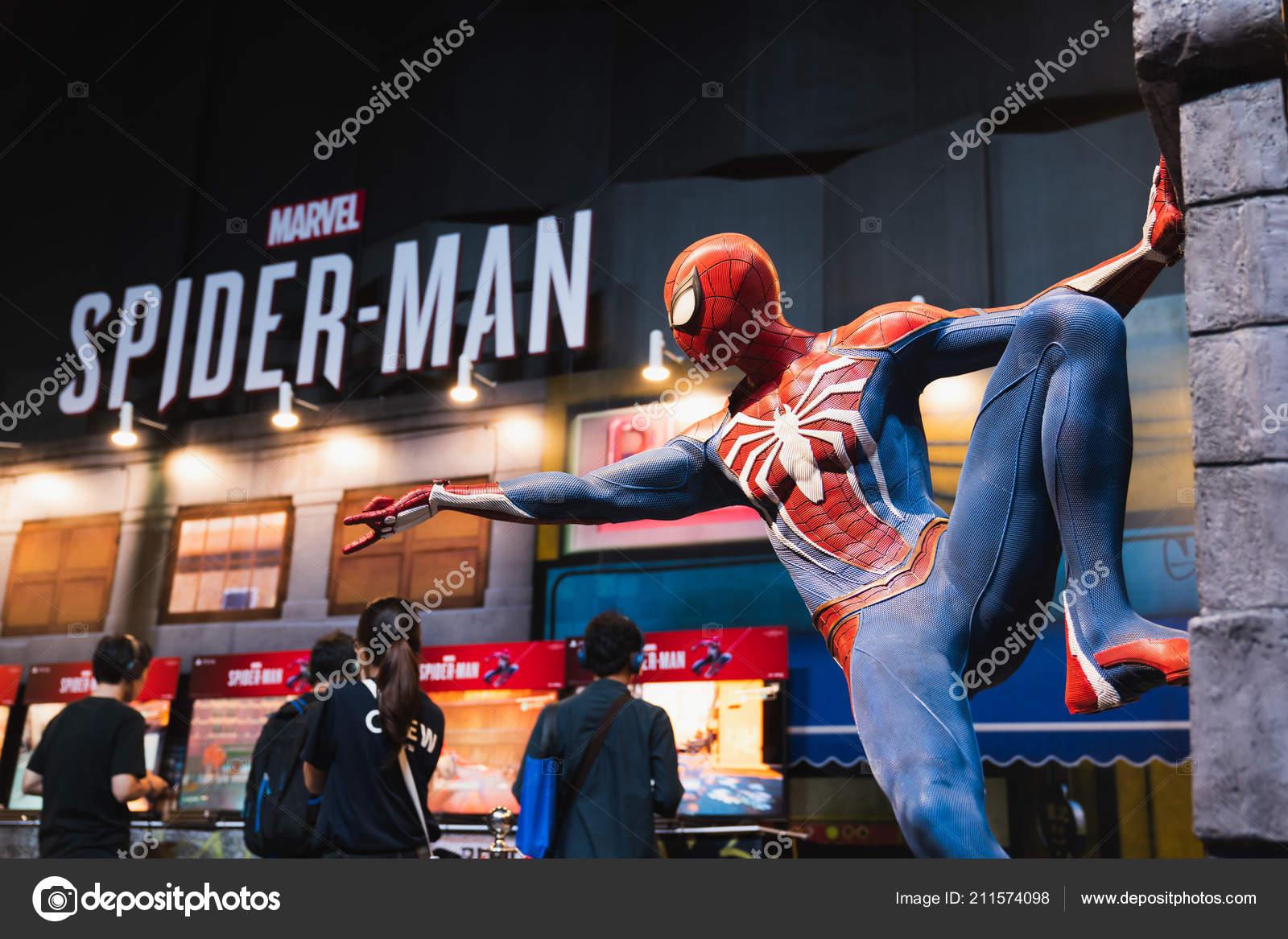 Bangkok Tailandia Agosto 2018 Nueva Ps4 Spider Man Juego Evento