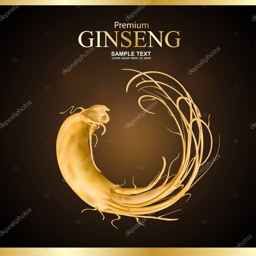 Ginseng Premium Vector  Background.
