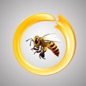 Méz és méhek vektora