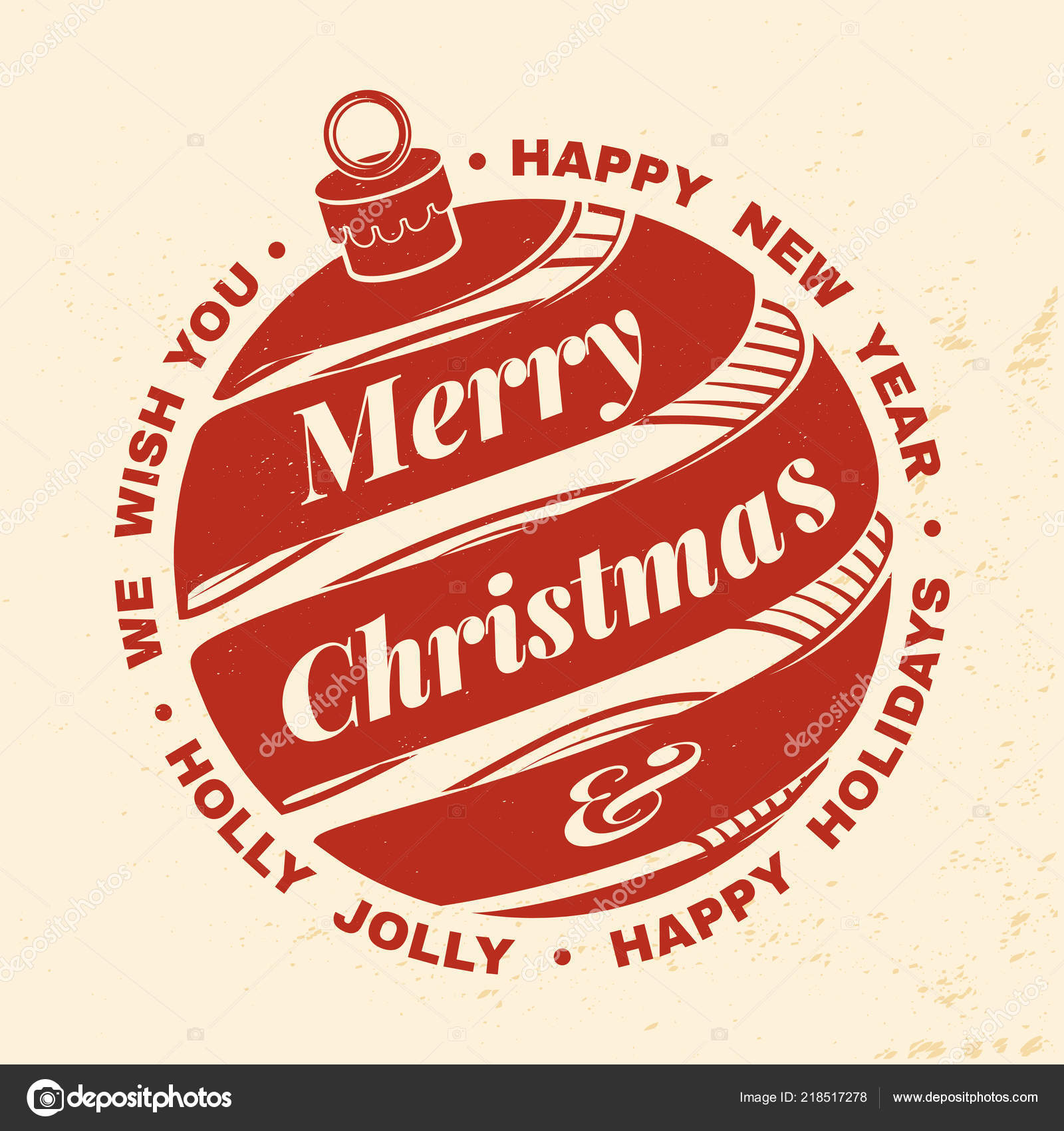 we wish you a very merry christmas and happy new year stamp sticker set with