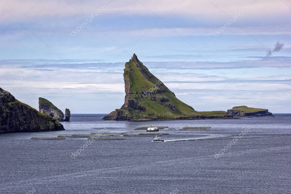 High mountains and deep fjords, Faroe Islands
