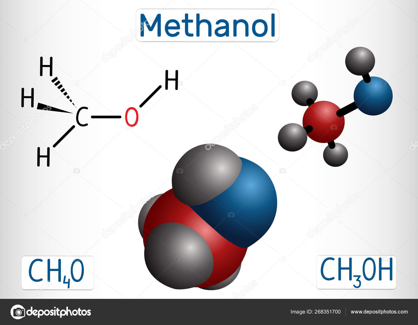 Methanol, methyl alcohol, molecule  Sugar substitute and E951