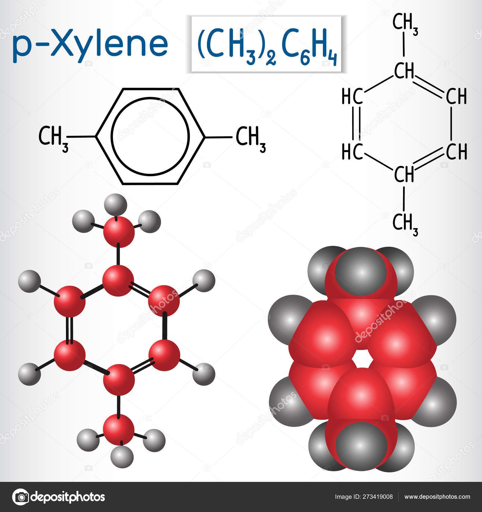 Para Xylene P Xylene Molecule Structural Chemical Formula And Model Stock Vector C Avk97 Yandex By 273419008