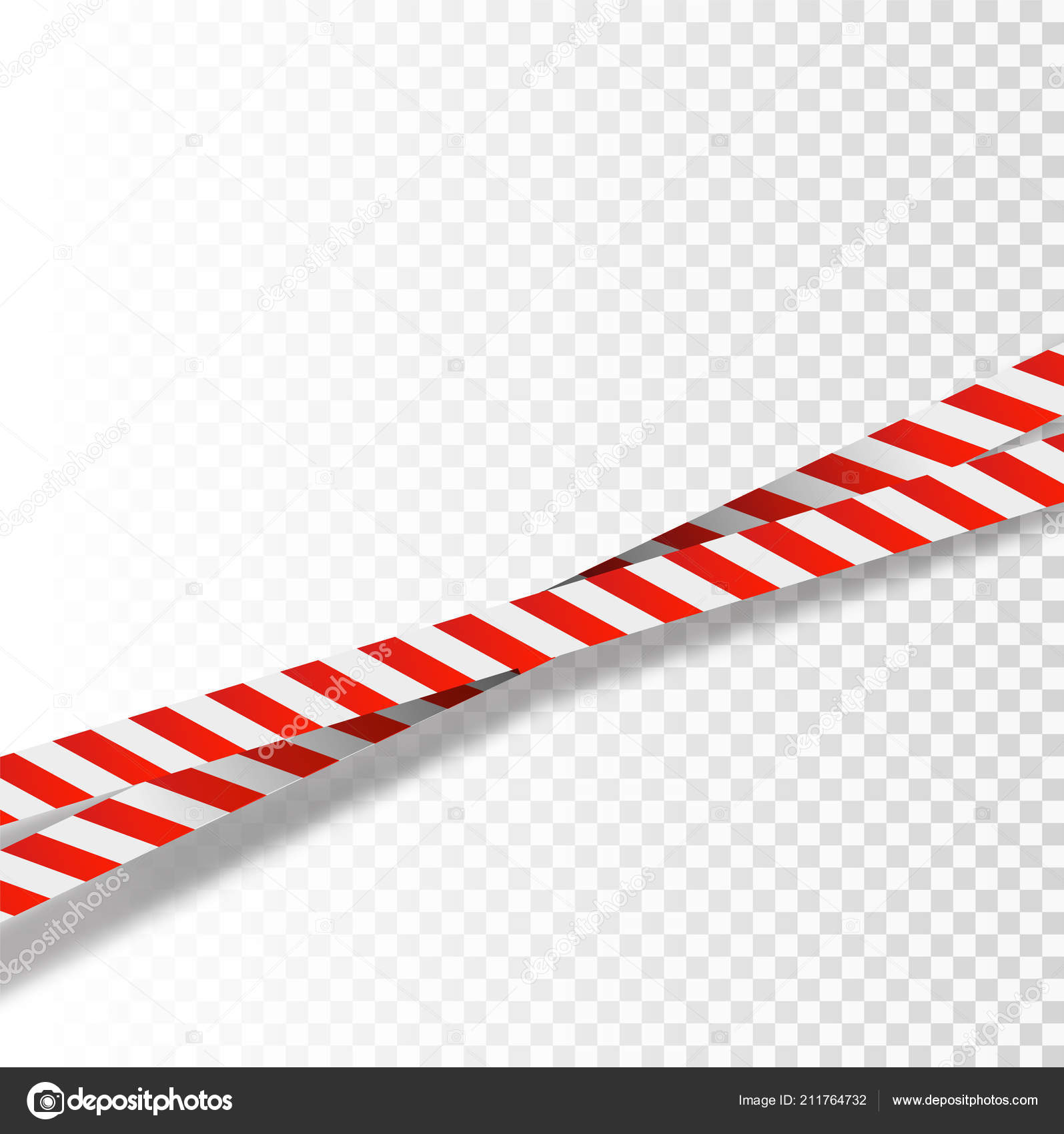 Red and white stripes set  Warning tapes  Danger signs