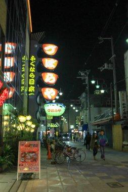 a Shinsekai district of an Osaka. JAPAN