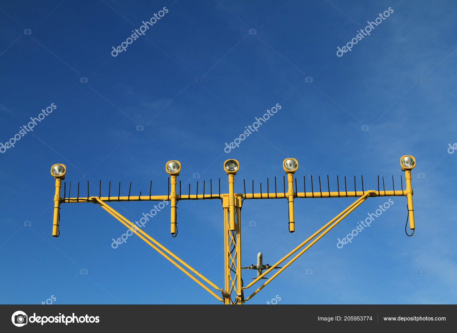 Airport Landing Lights Airplane Approaching Runway Lighting Radar