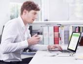 Fotografie Finanční manažer koncept v kanceláři