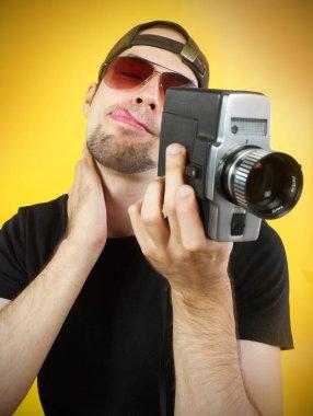 Cameraman with 8mm camera