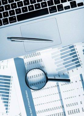 Financial data analytics concept