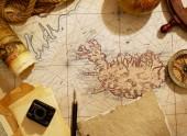 Fotografie Vintage map and journey equipment