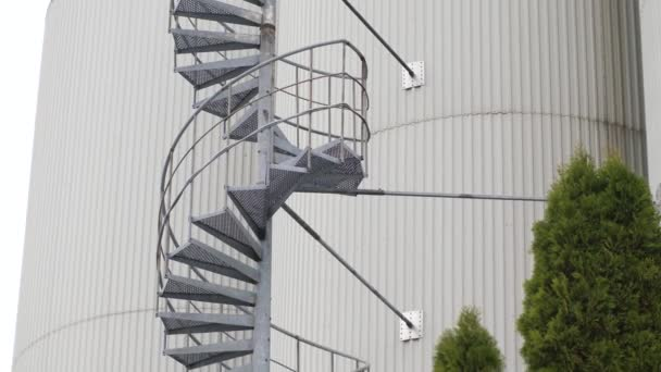 Industrial spiral staircase for tanks