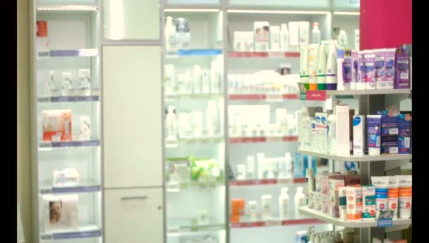 Beautiful girl pharmacist at the pharmacy