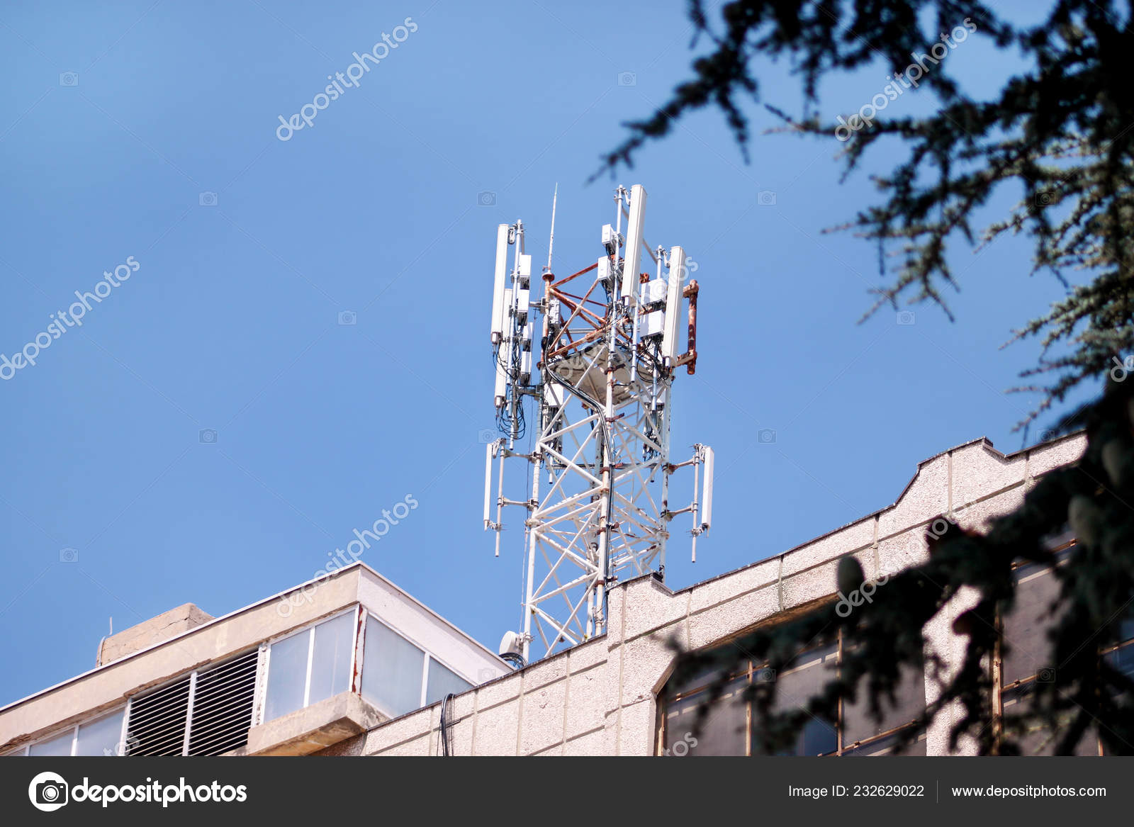 Telecommunication Base Stations Network Repeaters Roof