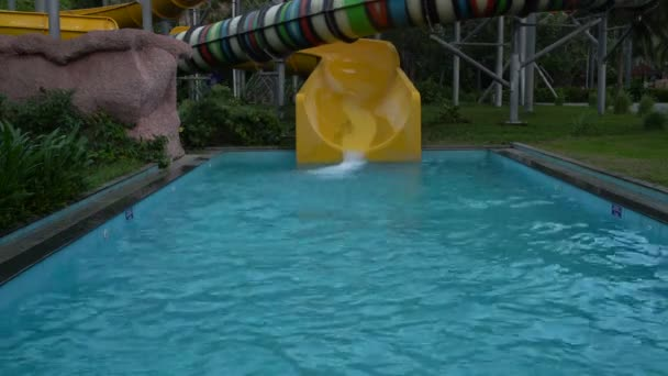 Attraction water slide in the water park