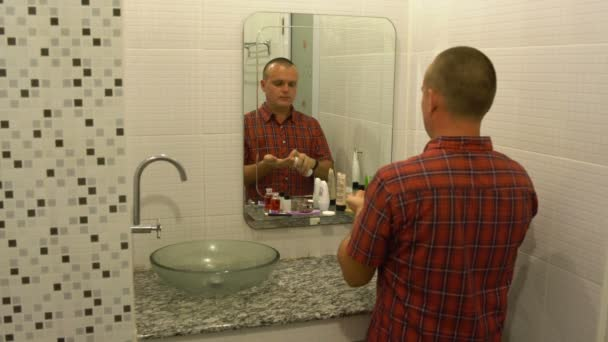 Image result for a mirror (in the bathroom) with face shown