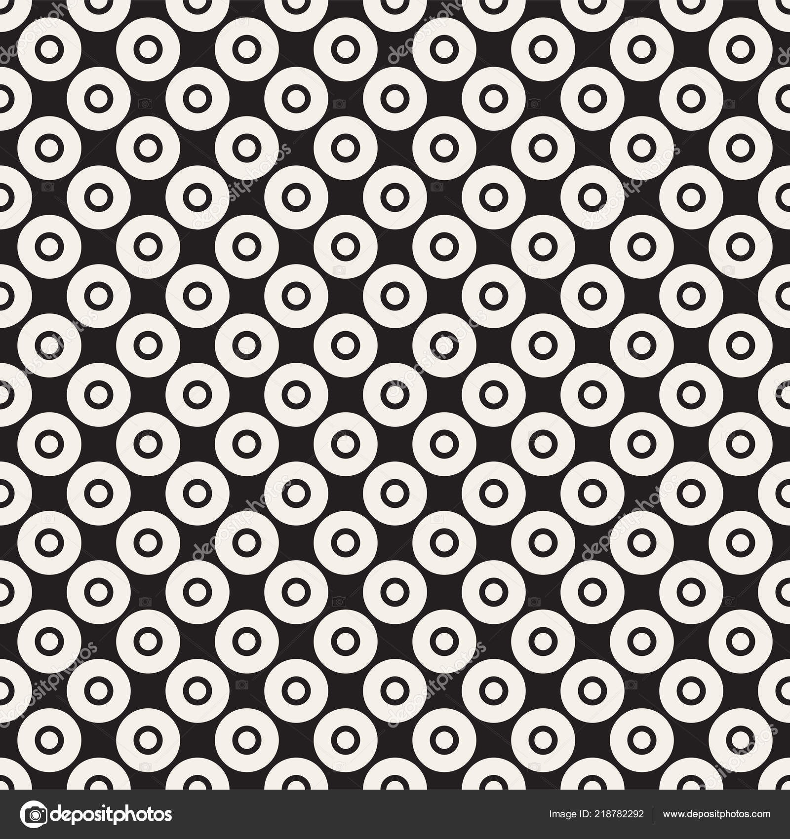 vector seamless pattern circles rings simple modern abstract