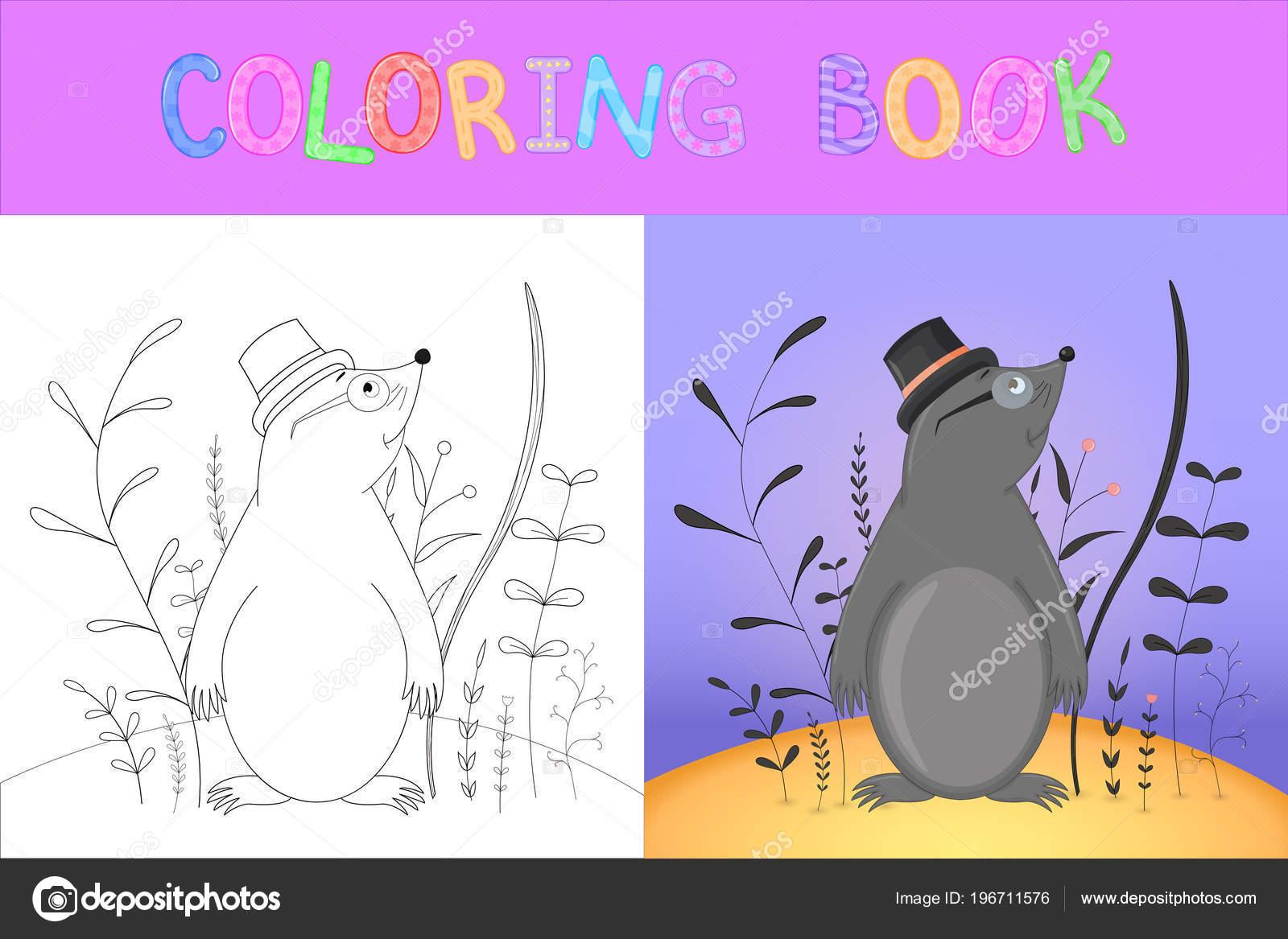 libro o página de colorear para niños de edad preescolar y escolar ...