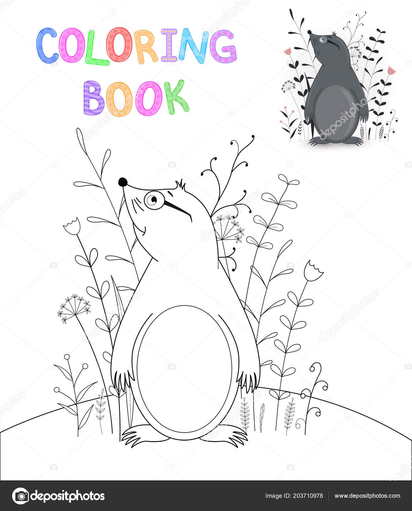 Boyama Kitabı Karikatür Hayvanlar Ile çocuk S Okul öncesi çocuk