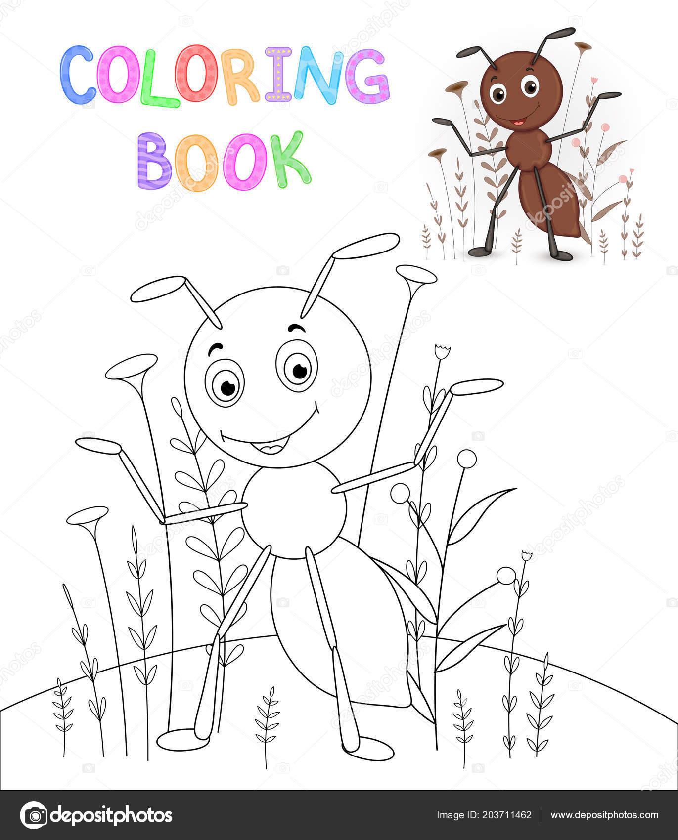 Boyama Kitabı Karikatür Hayvanlar Ile çocuk S Okul öncesi çocuklar
