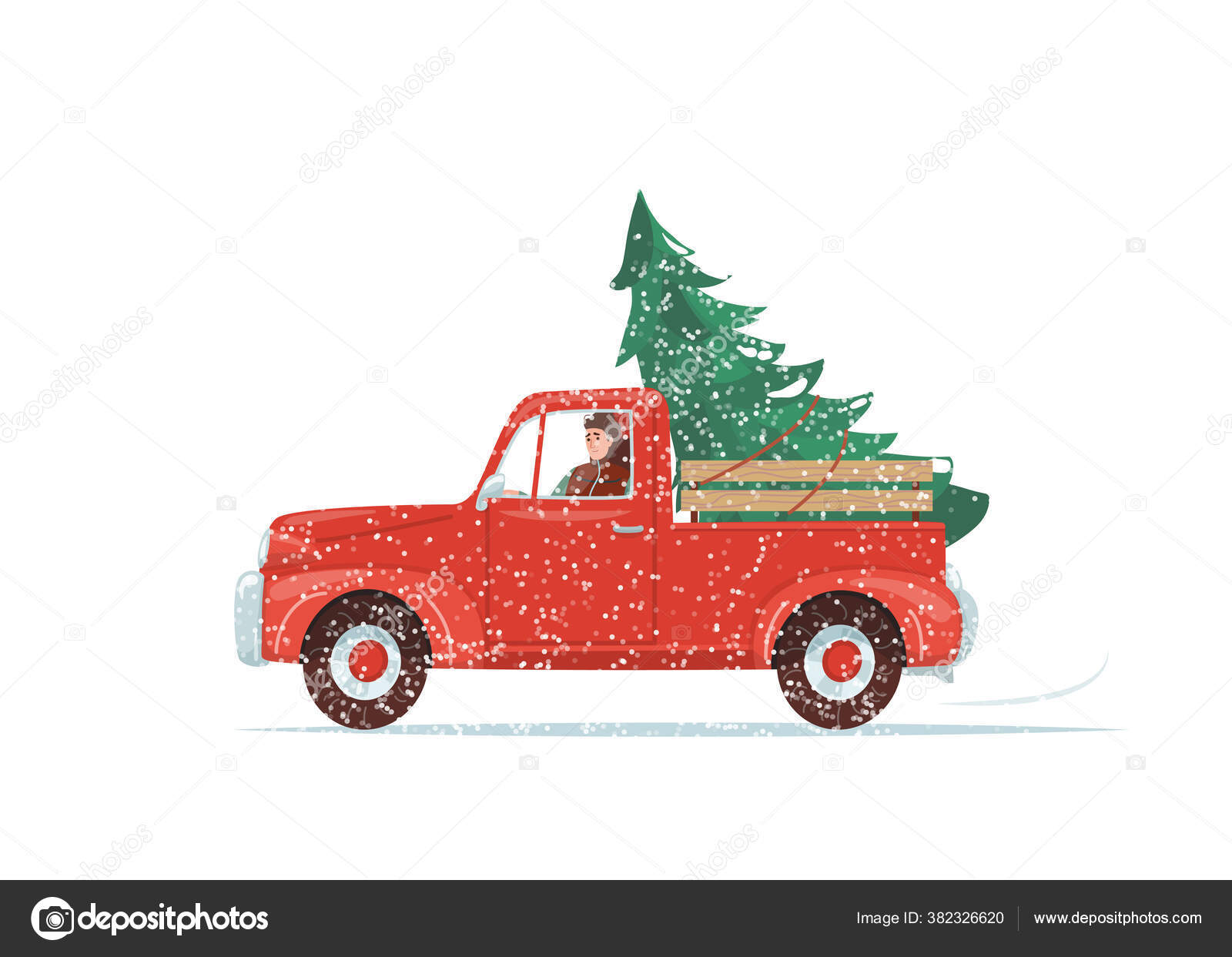 Vintage Christmas Truck Vector Images Royalty Free Vintage Christmas Truck Vectors Page 2 Depositphotos
