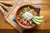 Hagyományos mexikói nopal kaktusz saláta