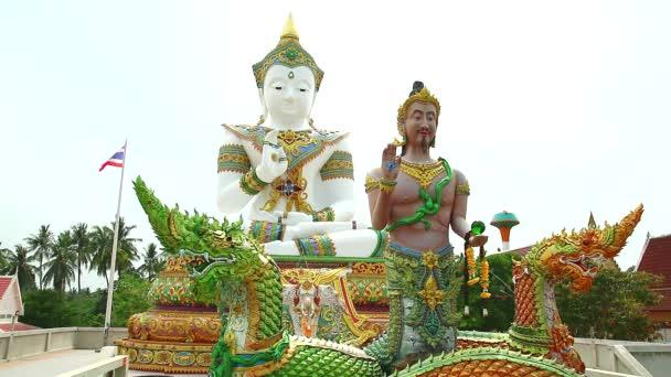 Srisuttho god of Naga and buddha background at Khao Mai Kaew Temple1